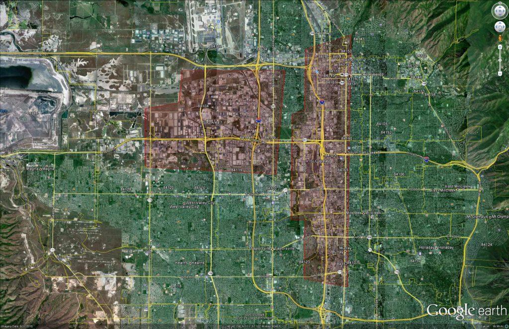 Salt Lake City, Utah (UT) - Archived Aerial Infrared Imagery